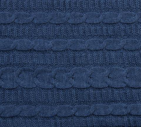 Вязаный плед джинс 140x180