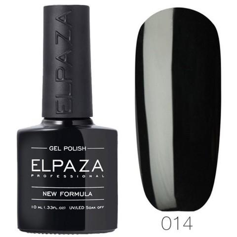 Гель лак Elpaza 014 истинно чёрный