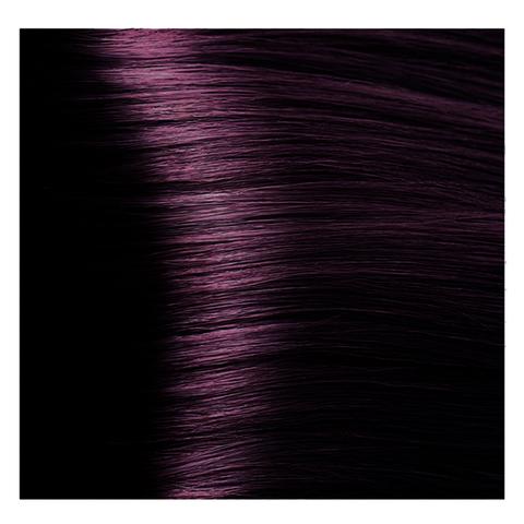 Крем краска для волос с гиалуроновой кислотой Kapous, 100 мл - HY 4.2 Коричневый фиолетовый