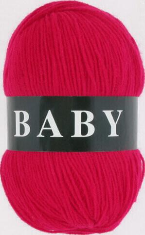 Пряжа Baby (Vita) 2893 Ярко-красный фото