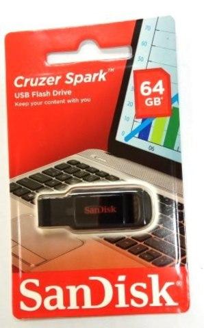 Флеш-накопитель USB  64GB  SanDisk  Cruzer Spark  чёрный