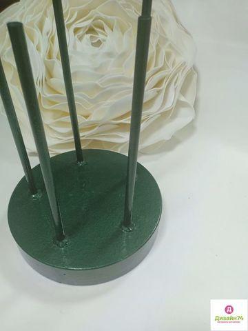 Стойка металлическая, Зелёная, 5 штырей, вес 22,5кг.