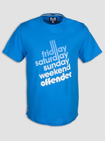 Футболка Weekend Offender Sixty Hours Cyan