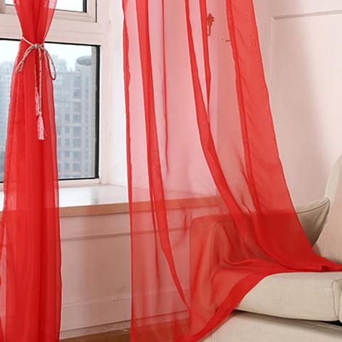 Тюль вуаль на шторной ленте. Красный. оптом. Арт. Kv17