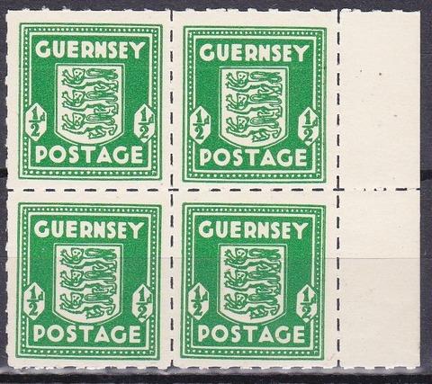 guersey 1941 № 1а кварта **MNH-без наклеек