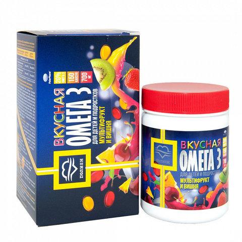 OMEГА3 с вишневым вкусом и мультифруктом 0,7 N150