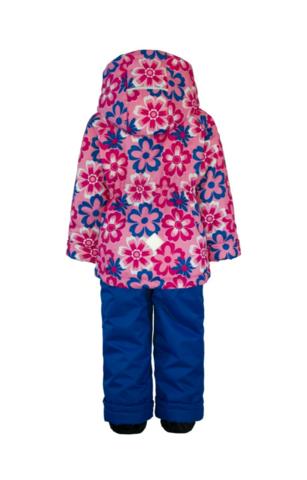 Uki kids  демисезонный комплект для девочки Огонек (брюки синего цвета)