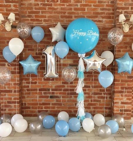 Фотозона из шаров Happy Birthday