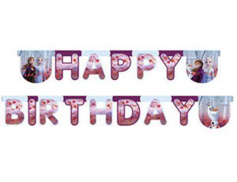 Растяжка Happy Birthday Холодное сердце
