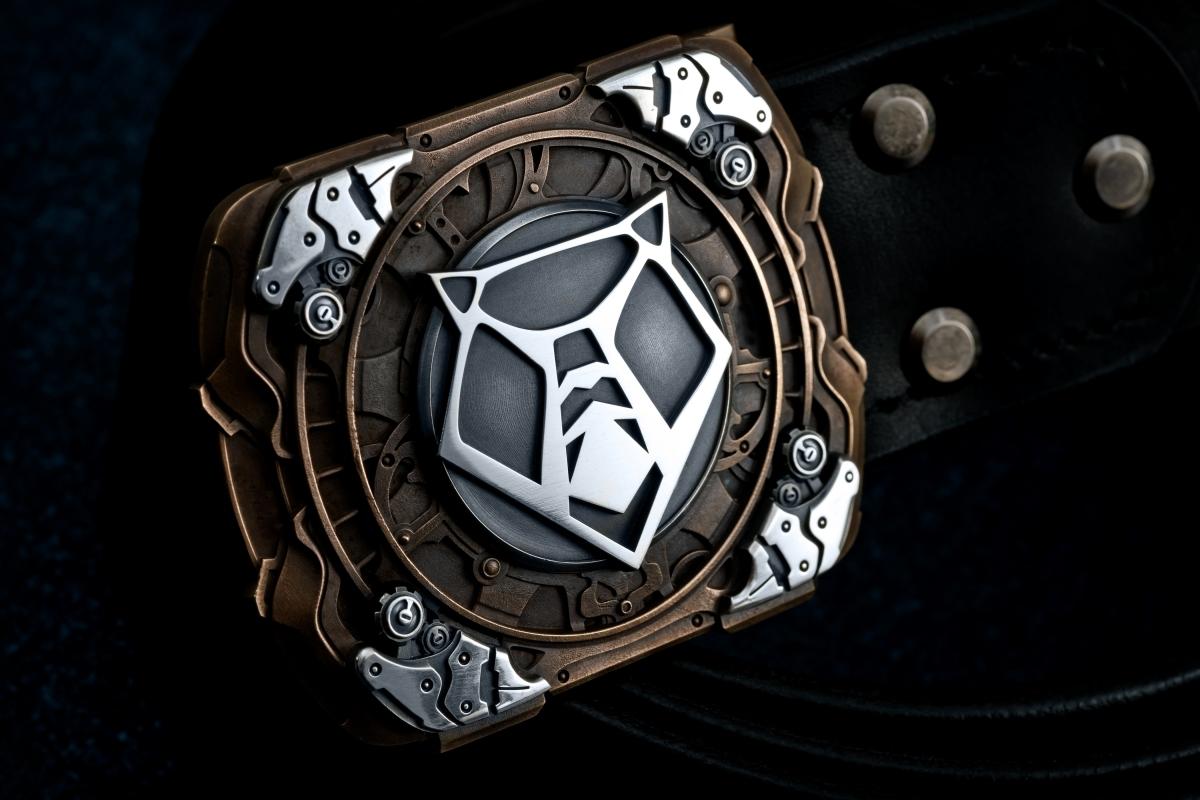 CUSTOM Belt with cast buckle Shiro limited