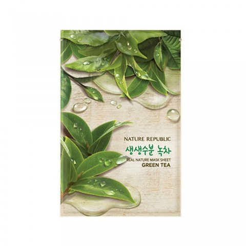 NATURE REPUBLIC Тканевая маска для лица с экстрактом зеленого чая Real Nature Mask Sheet Green Tea