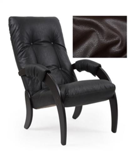 Кресло для отдыха Модель 61 (венге/ Vegas lite Amber) коричневый