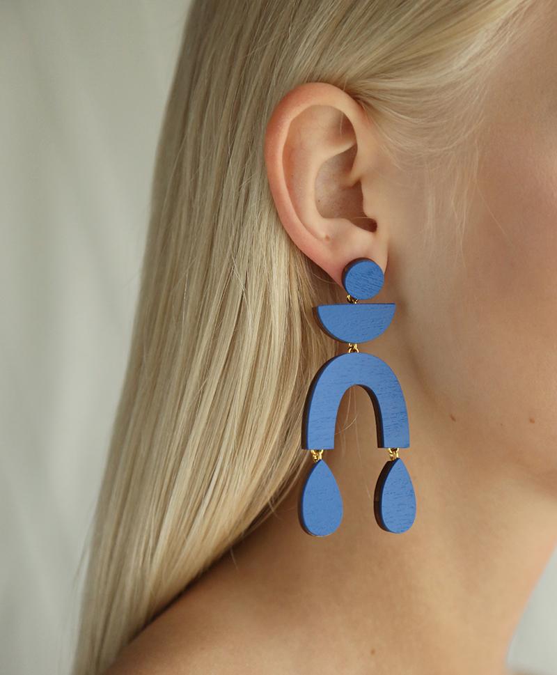 Серьги Corbero Earrings Cobalt Blue