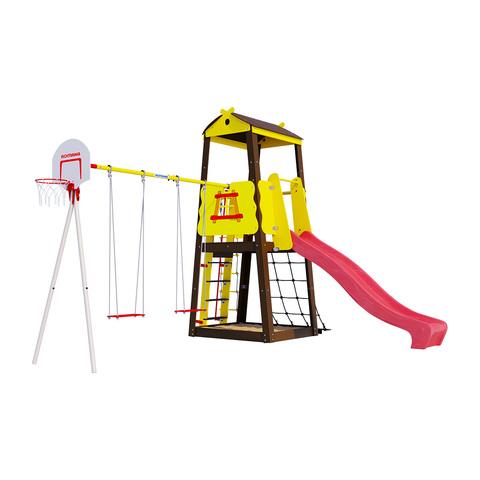 Детский спортивный комплекс для дачи ROMANA Избушка (фанерные качели)