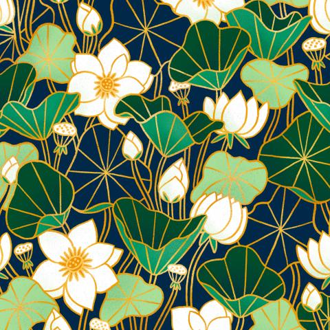 Пруд с лилиями