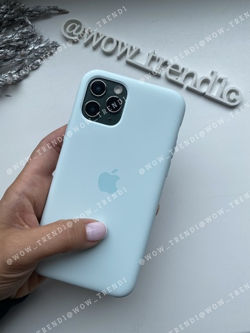 Чехол iPhone 11 Pro Max Silicone Case /seafoam/ морская пена original quality
