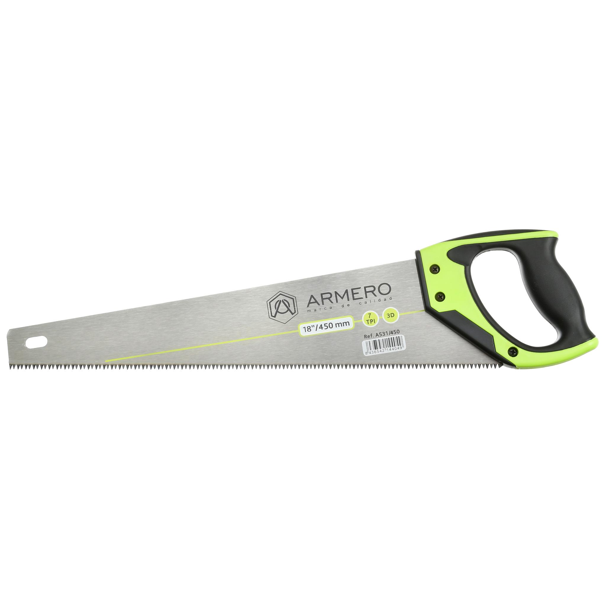 Ножовка по дереву A531/450, 450мм, 3d, крупный зуб