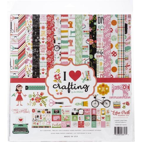 Набор двусторонней бумаги со стикерами 30х30см - I Heart Crafting  -12 л + 1л