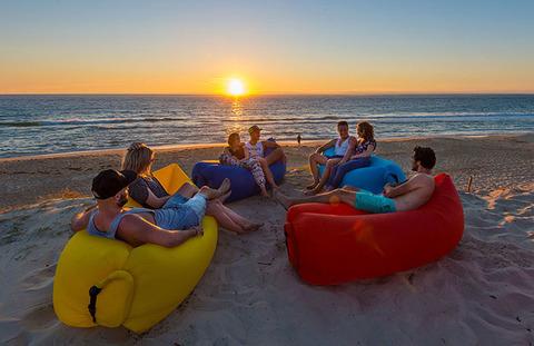 Надувной диван (Lamzac) Premium Фуксия