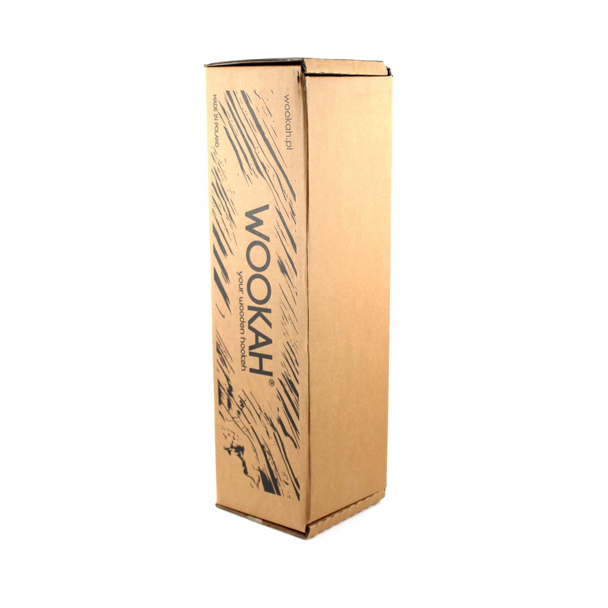 Фирменная коробка кальяна Wookah Black-Orange с колбой Smooth