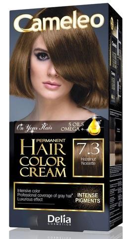 Delia Cosmetics Cameleo Крем-краска для волос тон 7.3 лесной орех