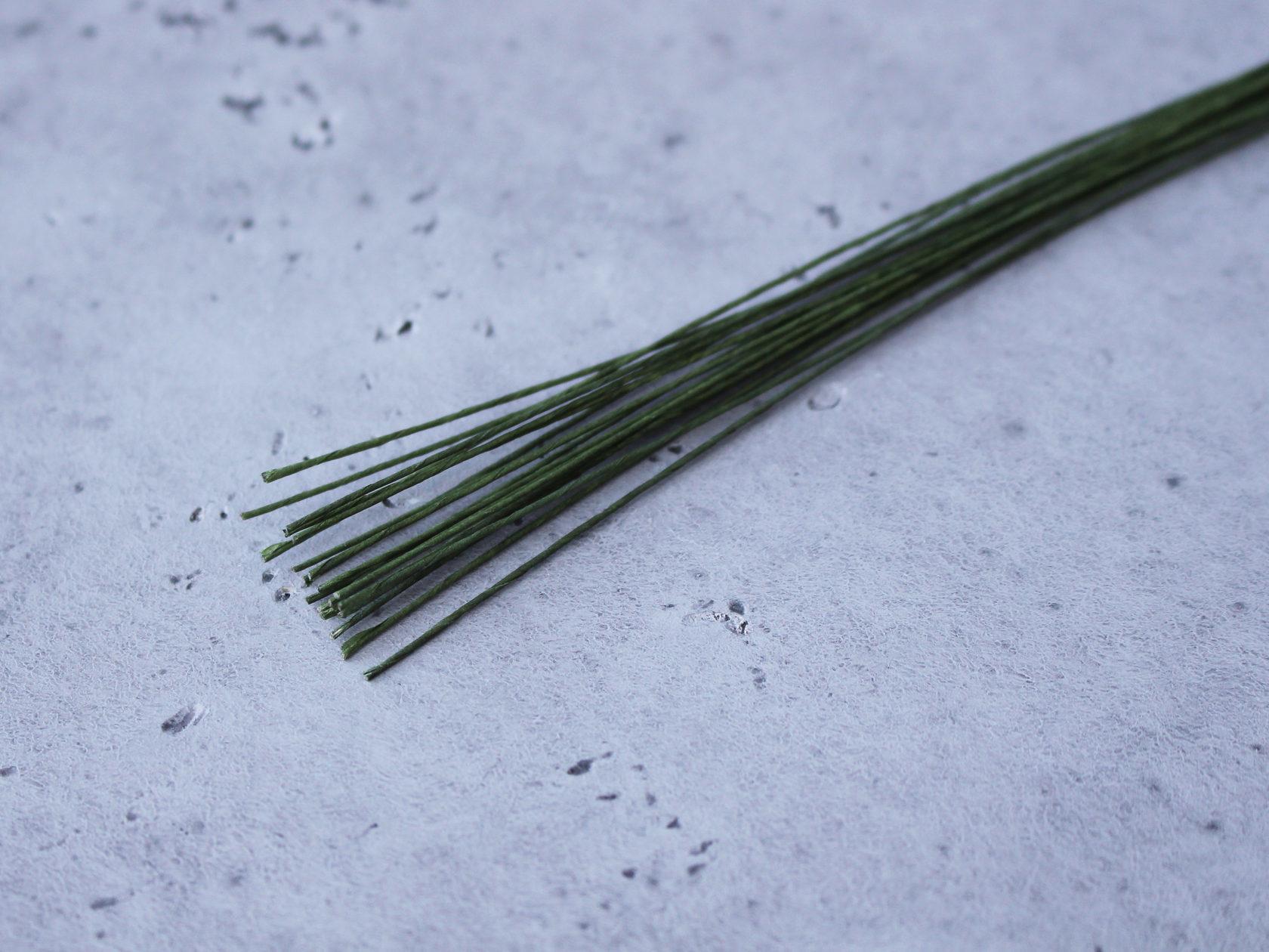 Проволока зеленая  №24 0,55мм (10 шт)