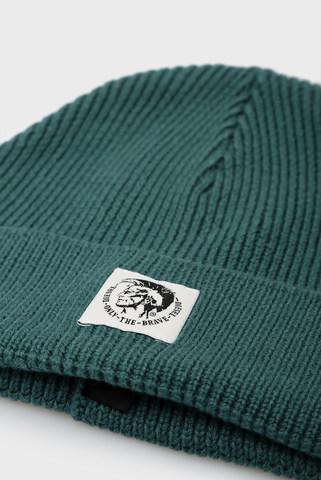 Зеленая шерстяная шапка K-CODER-F Diesel