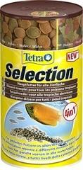 """Корм для всех видов рыб, TetraSelection, """"4 вида"""" хлопья/чипсы/гранулы"""