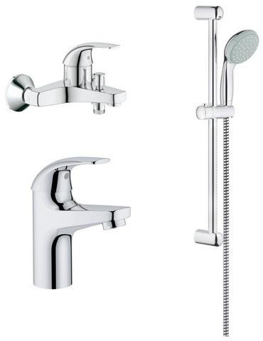 Комплект для ванной Grohe Baucurve 123072 3 в 1