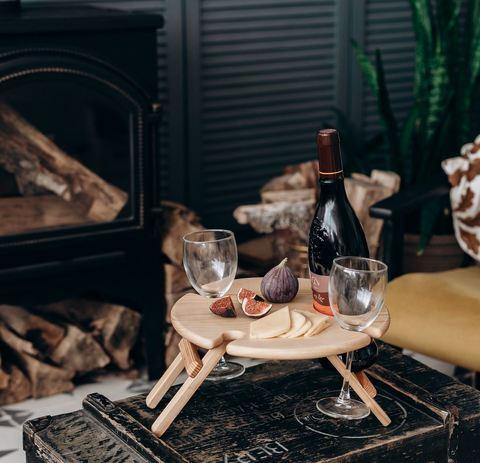 Складной столик для вина, светлый