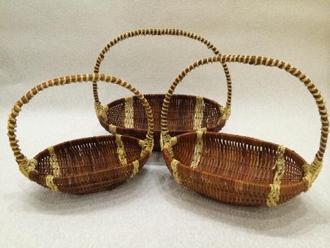 Набор плетёных корзин 3 шт. (лоза), 35х21хH31 см, цвет: коричневый
