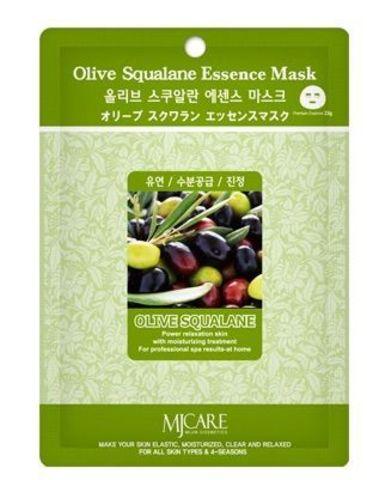 MIJIN Essence Маска тканевая олива Olive Squalane Essence Mask