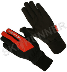 Теплые лыжные перчатки Nordski Arctic Black-Red 2020
