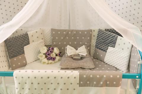 Комплект постельного белья Eco 3 Minky Бело-серый