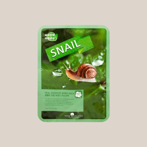 Маска для лица тканевая с муцином улитки May Island Real Essence Mask Pack Snail