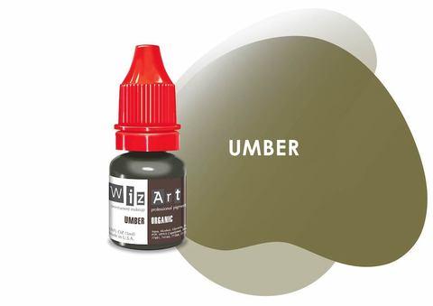 Umber (холодный коричневый) • Wizart Organic • пигмент для бровей