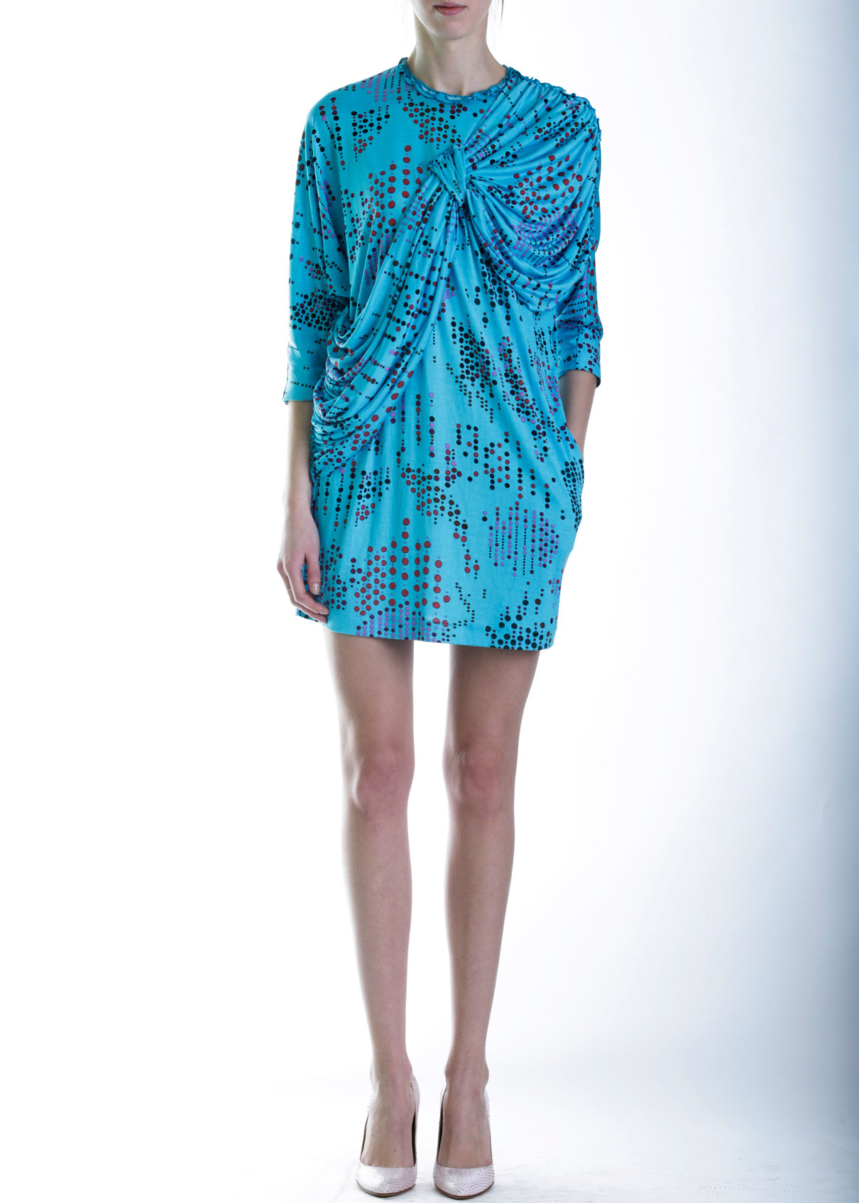 Платье-туника из шелка M MISSONI