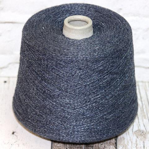 Смесовка со льном и мериносом FIL3 / BRAGA синий джинц