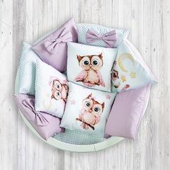 """Комплект для детской кроватки """"Совушка"""""""
