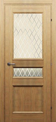 Дверь Краснодеревщик 3044, цвет орех бискотто, остекленная