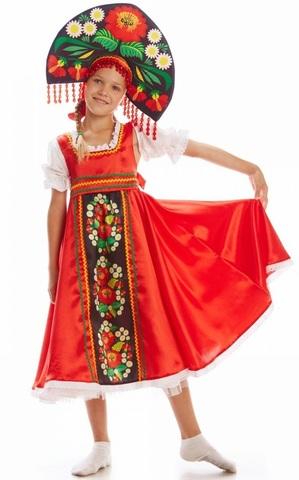 Русский народный костюм Хохлома девочка 1