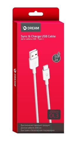 Кабель USB Type-C Dream 2м белый