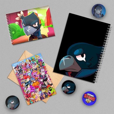 Кроу: набор из тетради, блокнота, открытки, 3 значков и стикера