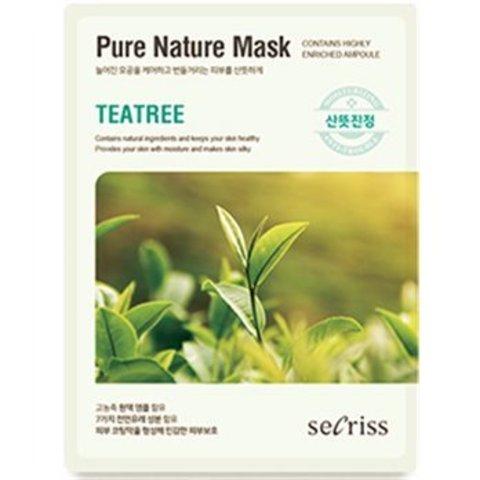 Маска для лица тканевая Secriss Pure Nature Mask Pack-Teatree 25мл