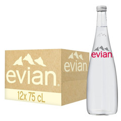 Вода минеральная Evian негазированная 0.75 л (12 штук в упаковке)