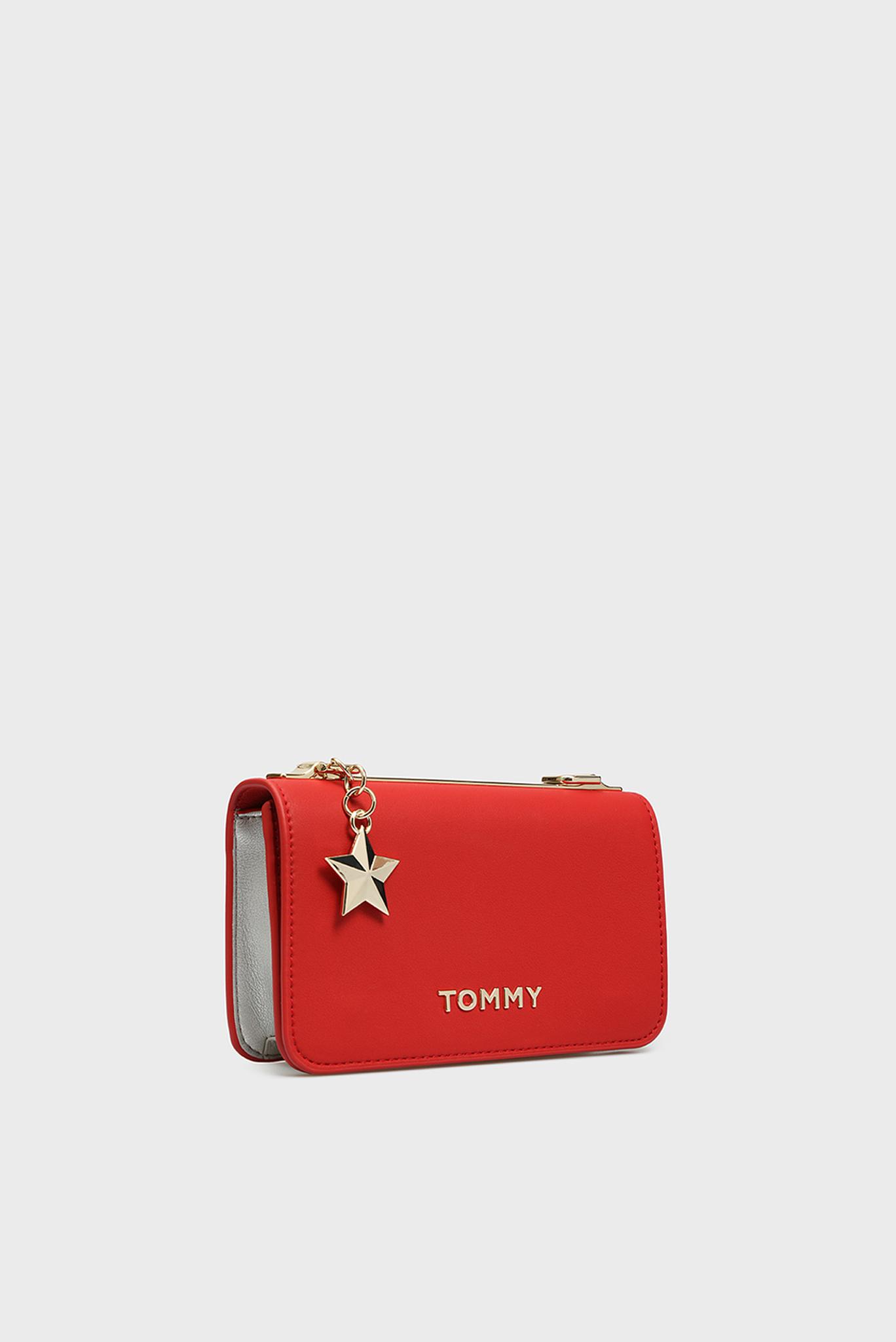 Женская красная сумка через плечо TOMMY STATEMENT CROSSOVER Tommy Hilfiger
