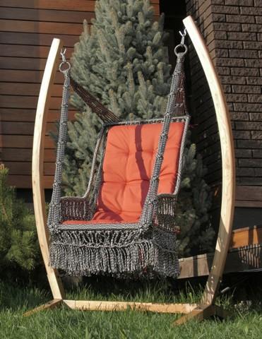 Подвесное кресло-качели «Инка» на каркасе «Форк»