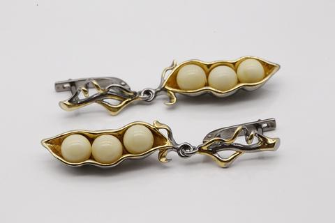 Серьги с янтарем из серебра 925. Арт. 821979