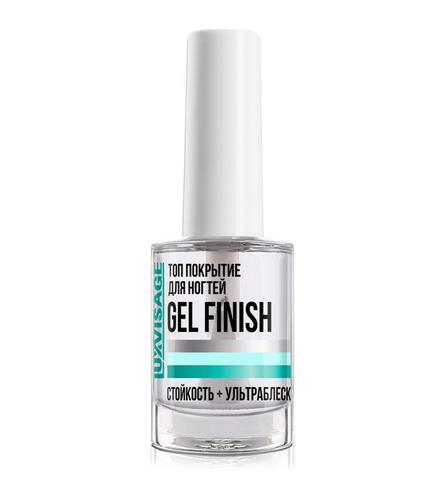 LuxVisage Средство по уходу за ногтями Топ покрытие для ногтей Gel Finish 9г