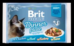 Паучи для кошек, Brit Premium Cat Gravy Dinner Plate